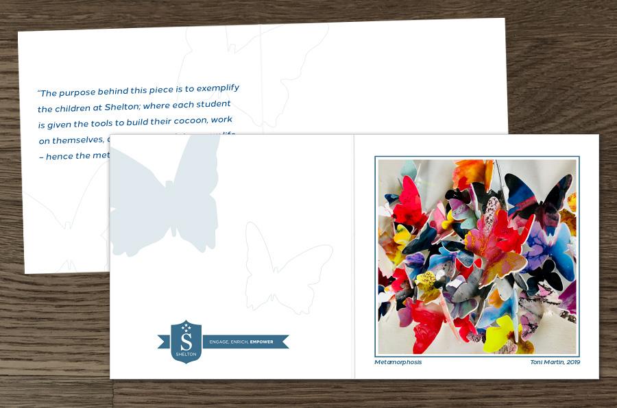 Dallas Graphic Design Shelton School Thank You Cards - Marina Wolf
