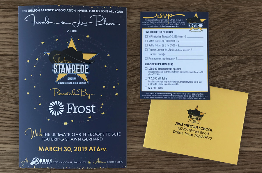 Graphic Design - 2019 Stampede Invitation + RSVP card - Marina Wolf